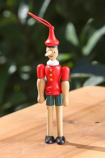 Sevimli Ahşap Pinokyo Biblo