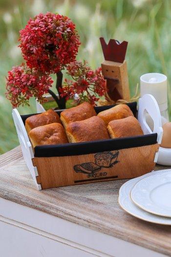 Retro Ahşap Ekmek Sepeti
