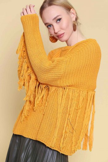 Oversized knit pullover sweater