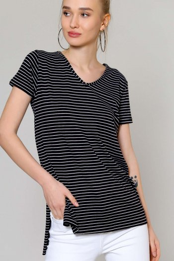 Striped oversized tunic top