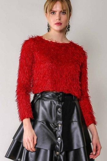 Retro glitter blouse