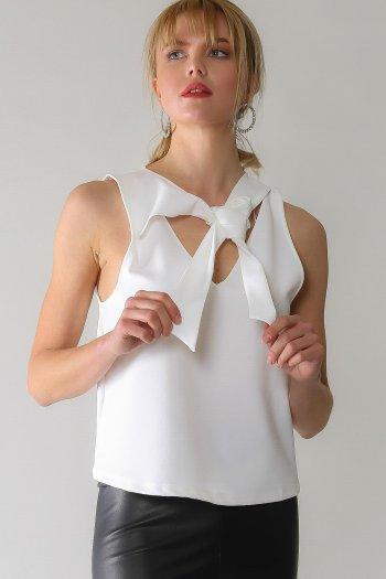 Vintage tie binding detailed blouse