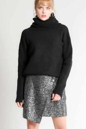 Sequin mini wrap skirt