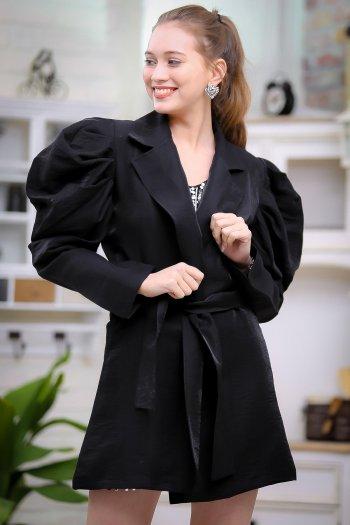 Retro balloon sleeve jacket design