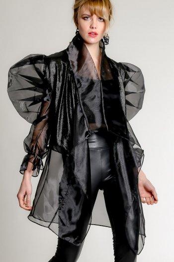 Organza balloon sleeve jacket