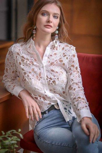 Vintage floral lace shirt