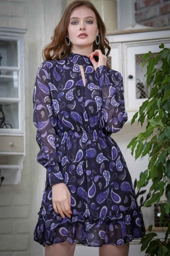 Vintage paisley chiffon dress slip