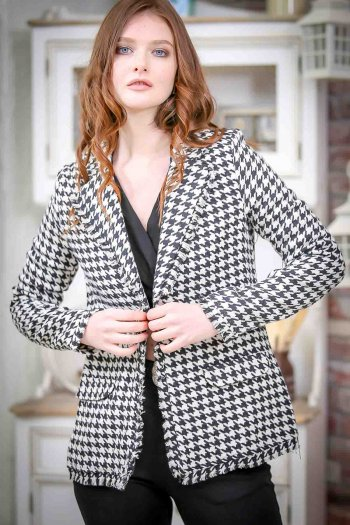 Vintage classic crow's feet patterned jacket