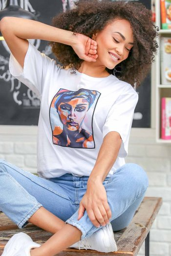 Woman art print t-shirt