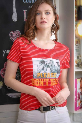 Vintage Tees transfer-printed striped young girls