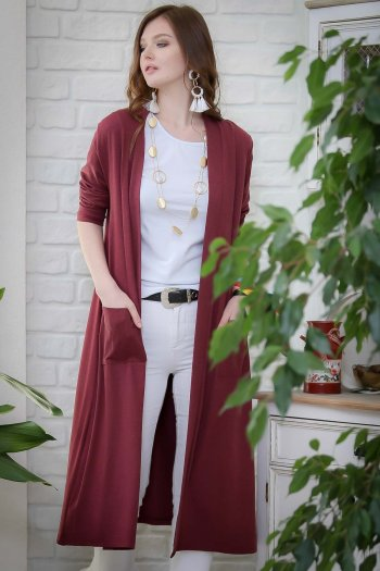 Vintage shabby long coat pockets