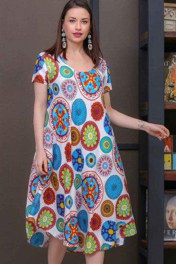 Mandala patterned fabrics shabby bohemian dress